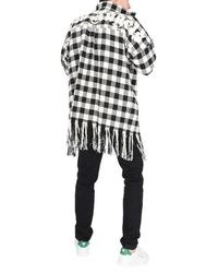 Palm Angels Shirt With Fringes - Black