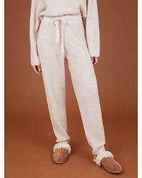 Cocoa Cashmere Maisie Bone Trouser - White