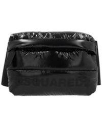 DSquared² Black Nylon Quilted Belt Bag