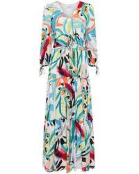 Great Plains Tropical Maxi Dress , Colour:whtmulti - White