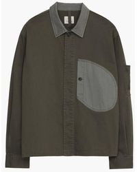 Nigel Cabourn X Closed Overshirt In Forest Night - Green