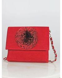 Unisa Velvet Pom-pom Bag Red