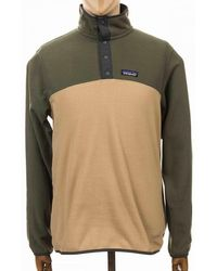 Patagonia Micro D Snap-t Fleece Pullover Top - Brown