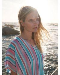 Nrby Shelly Silk Stripe Dress - Blue