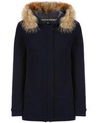 Woolrich W's Wool Cotton Fleece Hoodie - Black