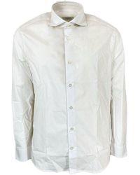 Seventy Modca0320car220506001 Cotton Shirt - White