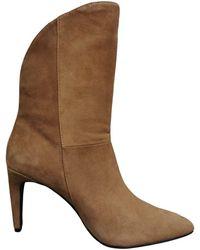 Rebecca Minkoff Havienne Leather Booties Camel - Brown