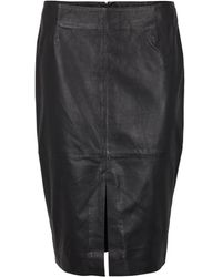 Second Female Lione Leather Skirt - Black