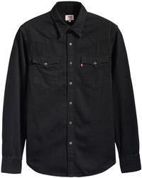 Levi's Barstow Western Standard | Marble Black Denim Rinse | Levi's