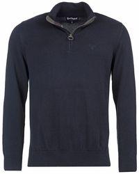 Barbour Cotton 1/4 Zip Sweater - Blue