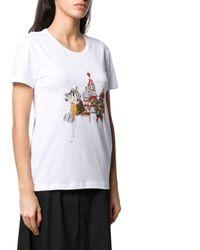 "Patrizia Pepe T-shirt Printing ""city"" Moscow - White"
