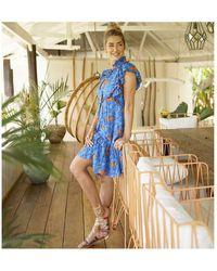 Feather & Find Belles Smock Dress - Blue