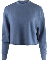 J Brand Wendy Cropped Sweatshirt - Blue