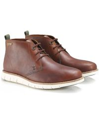 Barbour - Leather Burghley Chukka Boots - Lyst