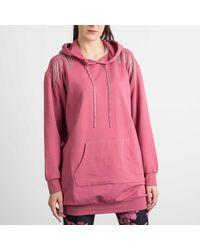Liu Jo Maxi Sweatshirt With Jewel Details - Metallic