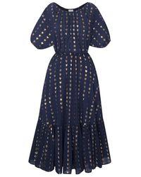 RHODE Frida Dress Navy Lurex - Blue