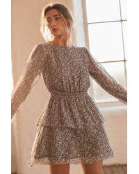 Spirit & Grace Angelite Mini Dress - Grey