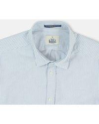 B.D. Baggies Bd Baggies Bradford Shirt - /white Stripe - Blue