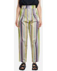 LES BOURDELLES DES GARÇONS High Waist Pants With Fantasy - Multicolour