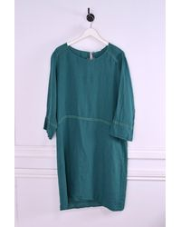 Hartford Risoli Long Sleeve Dress - Blue
