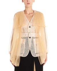 Noir Kei Ninomiya Women's 3dj0280512 Beige Polyester Jacket - Brown
