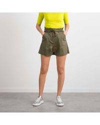 Patrizia Pepe Shorts With Belt - Green