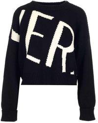 Versace - Women's A87169a235898a2024 Black Wool Sweater - Lyst