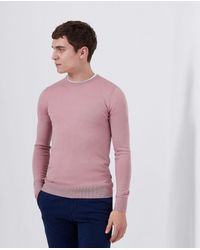 Remus Uomo Light Crew-neck Sweater - Pink
