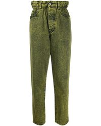 Miu Miu Women's Gwp3291xd2f0010 Green Cotton Jeans