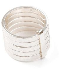 Jewel Tree London Pure 5 Stack Ring - Metallic