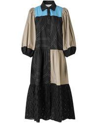 Second Female Mix Dakky Dress - Black