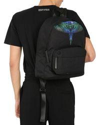 Marcelo Burlon Backpack With Wings Print - Black