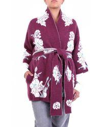 L'Autre Chose Knitwear Cardigan Fancy Bordeaux - Purple