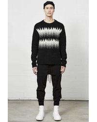 Thom Krom Thom/krom Aw21 M K 96 Pullover Jacquard - Black