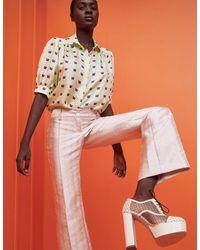 Lisou Betty Green Lily Print Silk Shirt - Multicolour