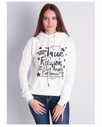 True Religion Rhinestone Relaxed Hoody Colour: White