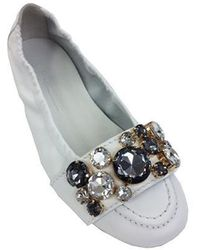 Kennel & Schmenger Shoes With Gems White 91-10450-426