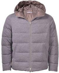 Gran Sasso Men's 57101 Padded Reversible Grey Coat