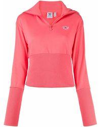 adidas Women's Fu3769 Fuchsia Cotton Sweatshirt - Pink