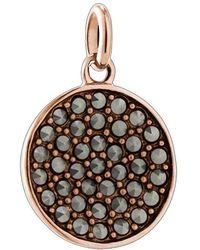 Kirstin Ash Bespoke Gem Circle Marcasite Charm - Rose Gold - Metallic