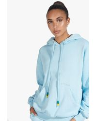 STAUD The Hooded Sweatshirt In French - Blue