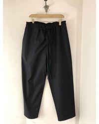 Sofie D'Hoore Cotton Peak Trousers - Midnight - Black