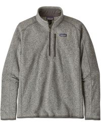 Patagonia Jersey Better Jumper 1/4 Zip Fleece - Stonewash - Grey