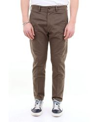 People Solid Colour Cotton Trousers - Green