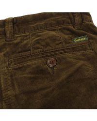 Barbour Neuston Stretch Cord Pants Dark Olive - Green