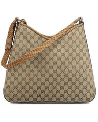 Gucci Original gg Canvas Hobo Handbag - Brown
