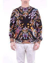 Etro Fantasy Black Crewneck Sweatshirt