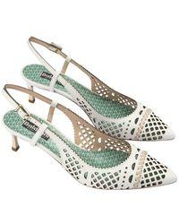 Baldinini Perforated Leather Shoes - White