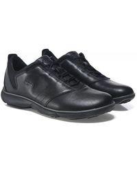 Geox Leather Nebula Sneakers Colour: Black