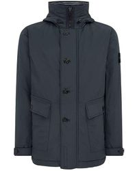 Stone Island - 40626 Micro Reps With Primaloftâ® Insulation Technology Jacket Charcoal - Lyst
